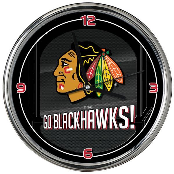 Chicago Blackhawks Go Team Chrome Clock