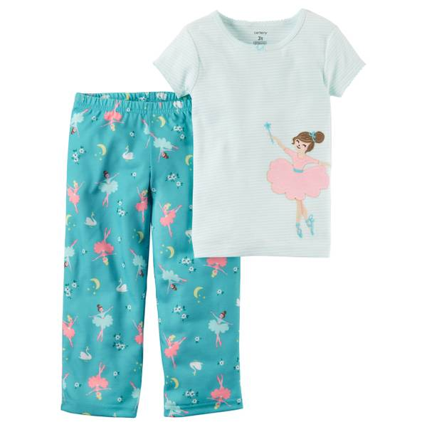 "Girl's Purple 2-Piece ""Wake Me At Sunrise"" Pajamas Set"