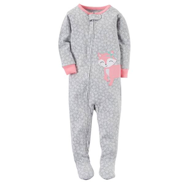 Baby Girls' 1-Piece Snug Fit Cotton Pajamas