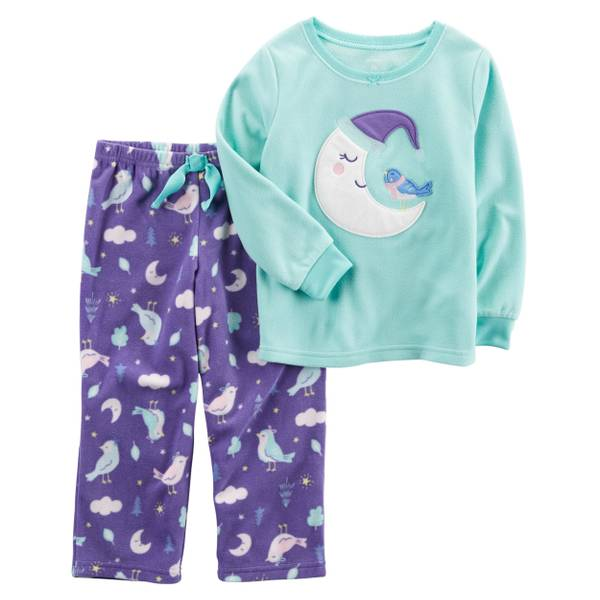 Carter's Girl's 2-Piece Polyester Fleece Pajamas