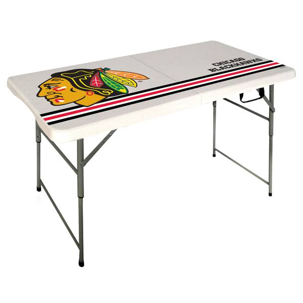 Chicago Blackhawks 4' Folding Table