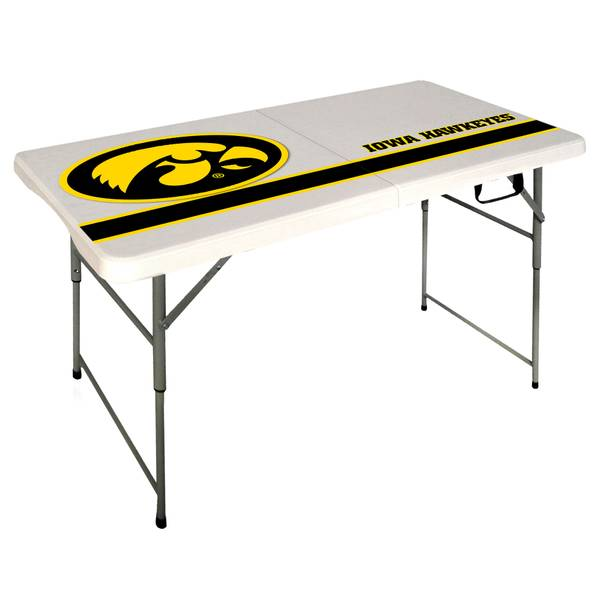 Iowa Hawkeyes 4' Folding Table