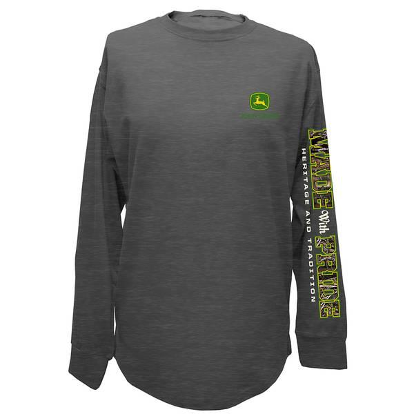 Men's Single Dye Long Sleeve Tee Shirt