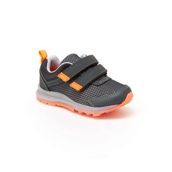Boys' Grey & Orange Record Athletic Shoes