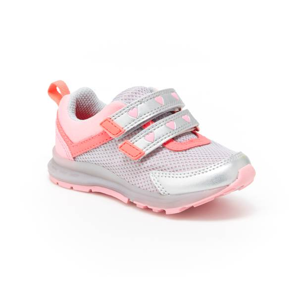 Girls' Silver & Pink Record Athletic Shoes