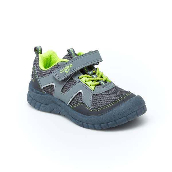 Boys' Grey & Neon Grapple Athletic Shoes