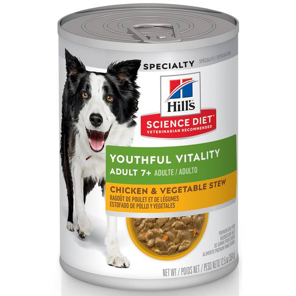12.5 oz Youthful Vitality Adult 7+ Canned Dog Food
