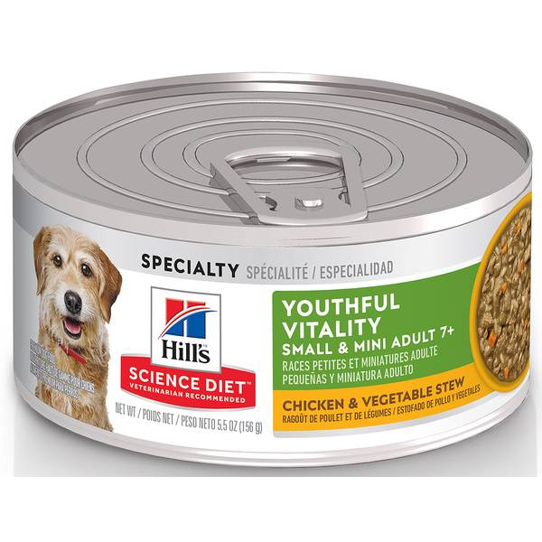 5.5 oz Youthful Vitality Adult 7+ Small & Toy Breed Chicken & Vegetable Stew Dog Food