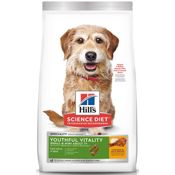 Youthful Vitality Adult 7+ Small & Toy Breed Chicken & Rice Recipe Dog Food