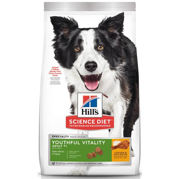 Youthful Vitality Adult 7+ Chicken & Rice Recipe Dog Food