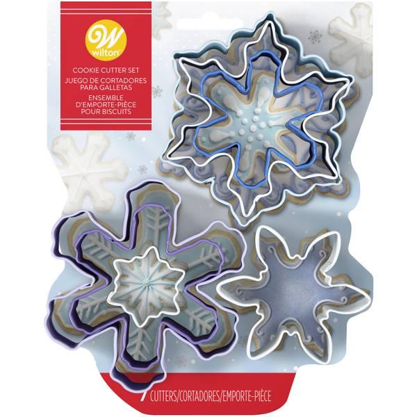 Metal Snowflakes Cookie Cutter Set