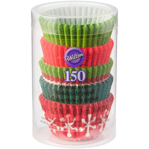 Holiday Red & Green Mini Cupcake Liners