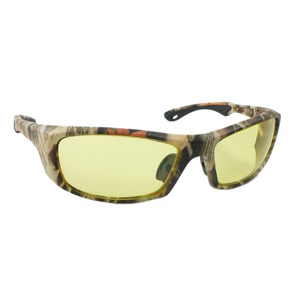 Crossfire Camo Frame & Field Yellow Lens Sunglasses