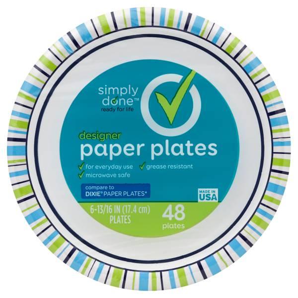 Designer 7  Paper Plates  sc 1 st  Blainu0027s Farm u0026 Fleet & Simply Done Designer 7