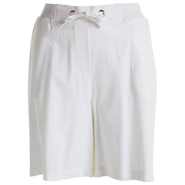 Misses White Pull On Shorts