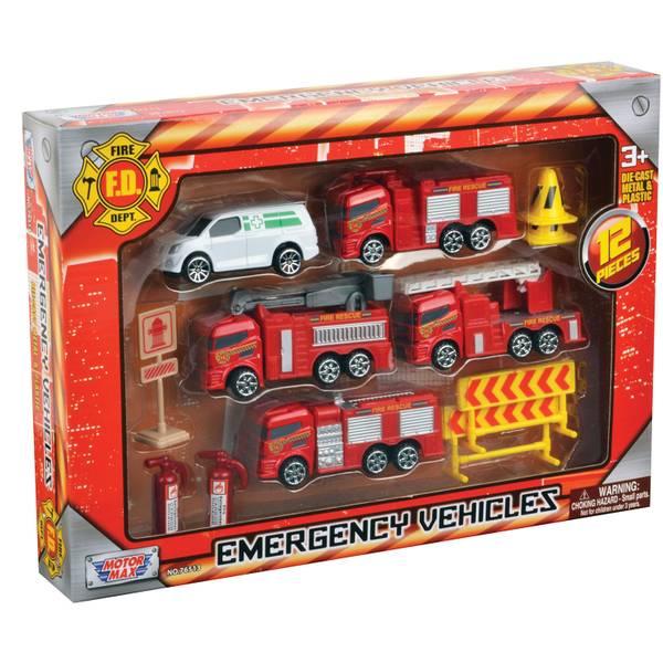 Emergency Vehicles Playset