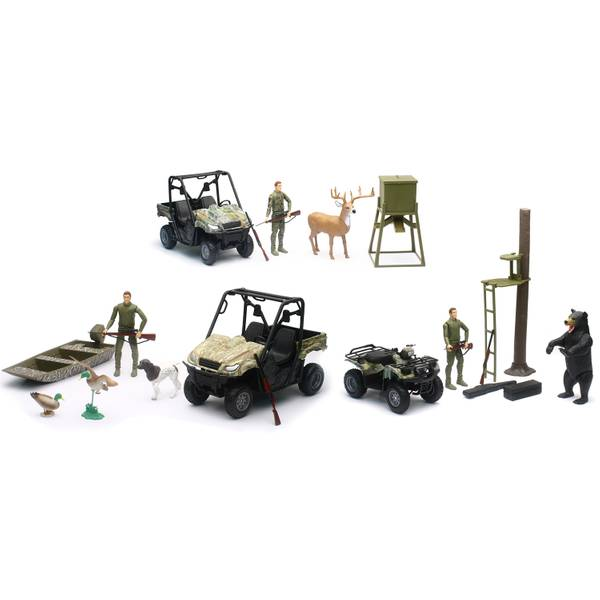 Wildlife Hunting 1:12 Hunting Set w/Vehicles & Boy Figure Assortment