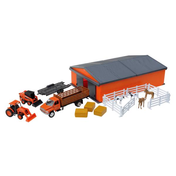 Kubota Farm Tractor with Machine Shed