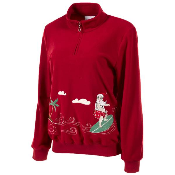 Misses' Santa Sweater
