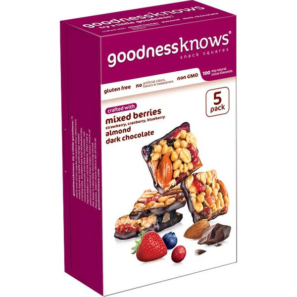 Goodness Knows Gluten-Free Snack Squares