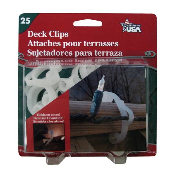 Deck Clips - 25 Count