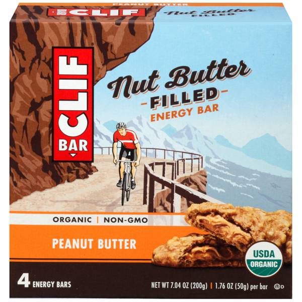Peanut Butter Nut Butter Filled Energy Bars - 4 Count