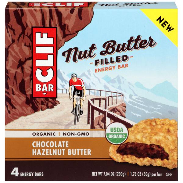 Chocolate Hazelnut Butter Nut Butter Filled Energy Bars - 4 Count