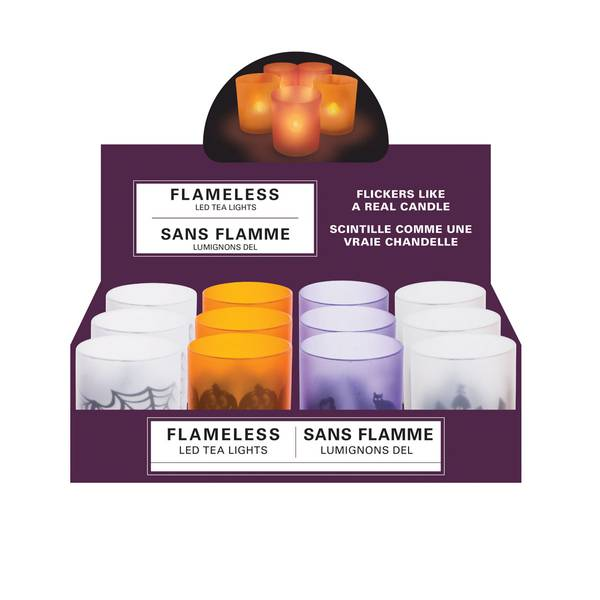 Halloween Plastic Tea Light Assortment