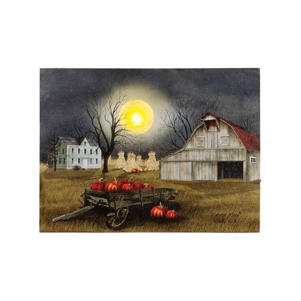 Lighted Harvest Moon Canvas