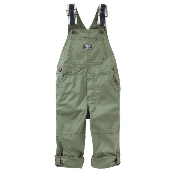 Toddler Boys' Convertible Twill Overalls