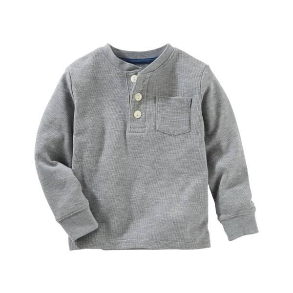 Toddler Boys' Thermal Pocket Henley