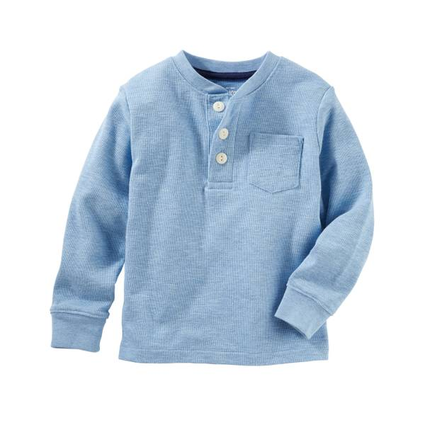 Boys' Long Sleeve Henley Tee