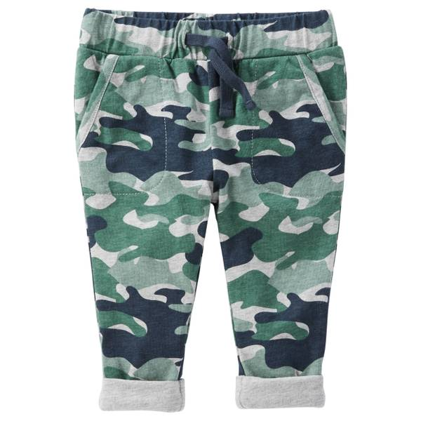 Baby Boy's Multi-Colored Pull-On Camo Print Jersey-Lined Pants