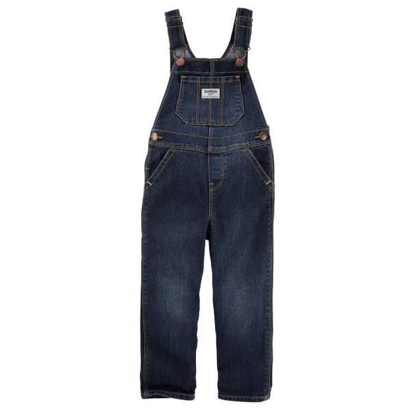 Toddler Girl's Blue Denim Overalls