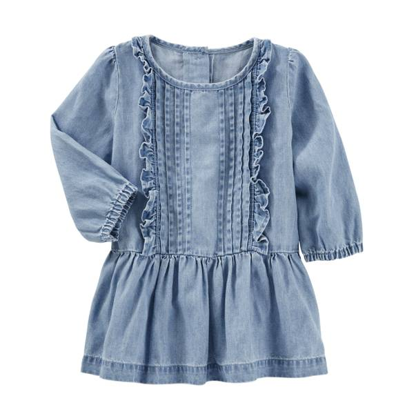 Baby Girl's Chambray 2-Piece Drop Waist Dress