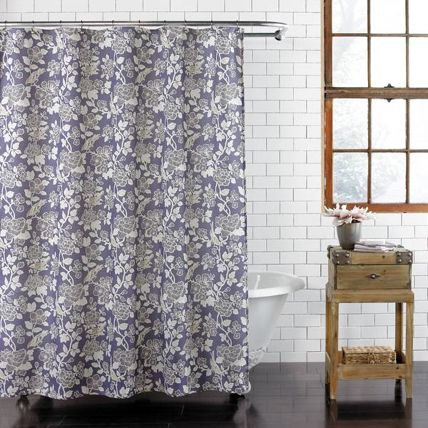 Akiko Fabric Shower Curtain