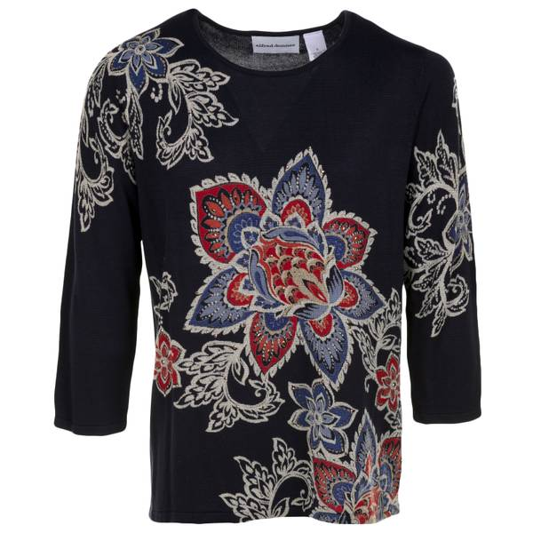 Misses Floral Sweater
