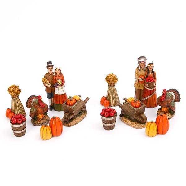 Resin Pilgrim & Native American Figurine Assortment