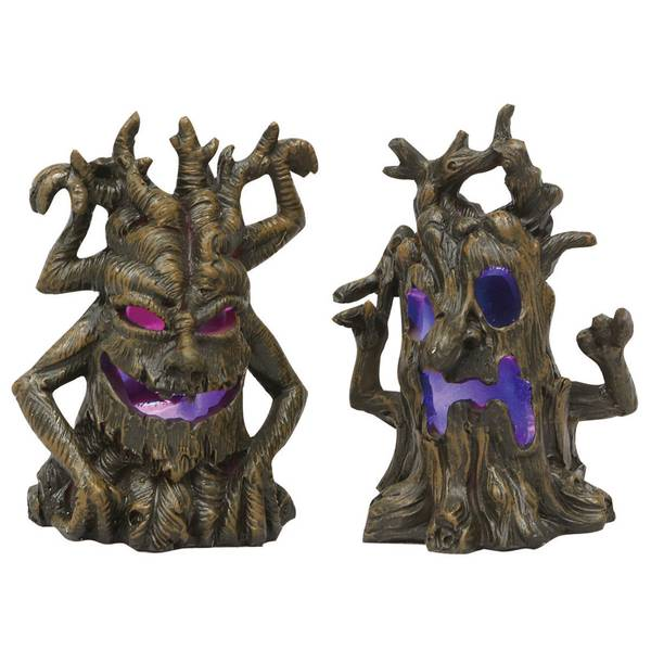Mini Resin Light-Up Spooky Tree Assortment