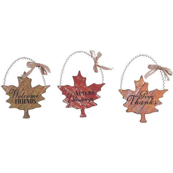 Maple Leaf Wall Decor Assortment