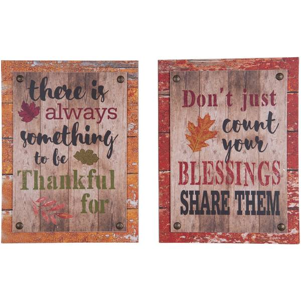 Autumn Wall Decor Assortment