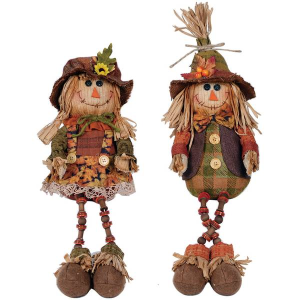 Plush Scarecrow Shelf Sitter Assortment