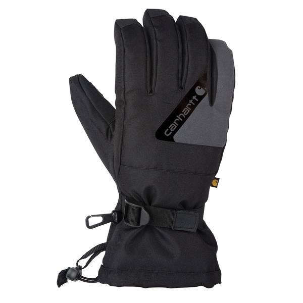 Men's Black & Dark Grey Pipeline Insulated Winter Gloves