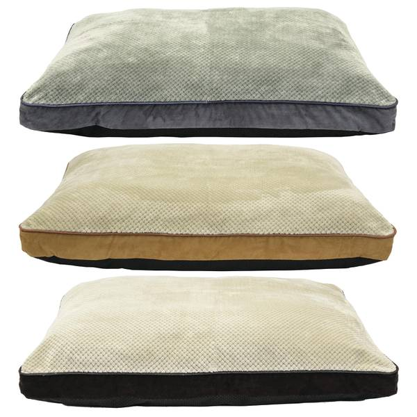 "35"" x 44"" Suede Zig Zag Gusset Dog Bed Assortment"