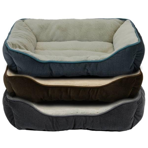 "25"" Textured Plush Box Pet Bed Assortment"