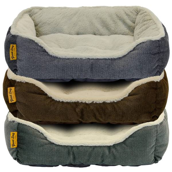 "25"" Zig Zag Cord Box Pet Bed Assortment"