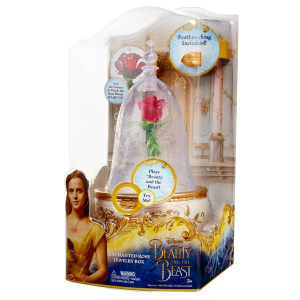 Disney Beauty The Beast Enchanted Rose Jewelry Box