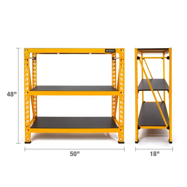 Dewalt Dxst4500 4 Foot Tall 3 Shelf Industrial Rack