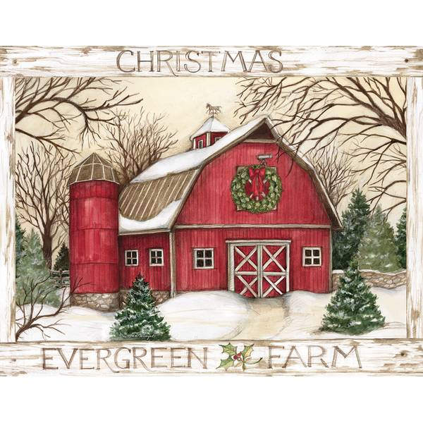 evergreen farm boxed christmas cards