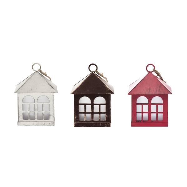 Mini House Lantern Ornament Assortment